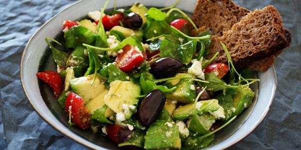 Salad bowl of healthy food to keep cool